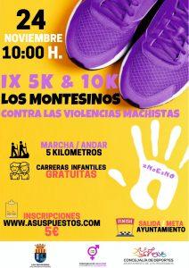 IX 5K y 10K Los Montesinos. Contra las Violencias Machistas @ Los Montesinos