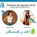 Marco y Soria, candidatas a mejor deportista de Alicante